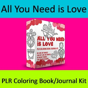 All You Need is Love Coloring Book Kit