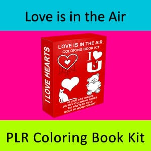 Love is in the Air PLR Coloring Book Kit