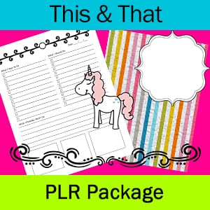 This & That PLR Package