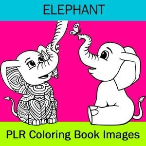 Elephant PLR Coloring Book Images