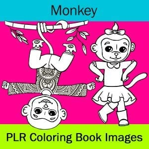 Monkey Coloring Book Images