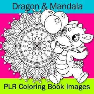 Dragon & Mandala Coloring Images