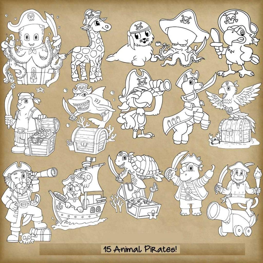 15 Animal Pirates