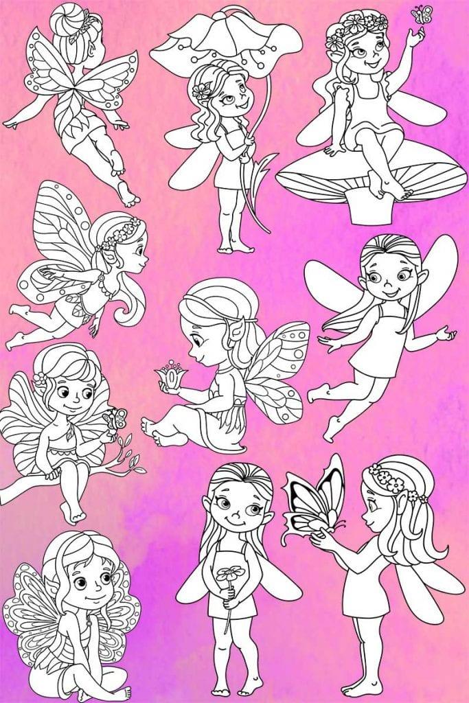 Fairy Land Coloring Pages | Color Me Positive PLR