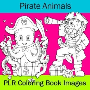 Pirate Animal Coloring Images