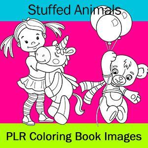 stuffed animals coloring pages color me positive plr. Black Bedroom Furniture Sets. Home Design Ideas
